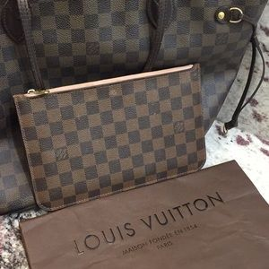 LOUIS VUITTON | Authentic Neverfull Wristlet